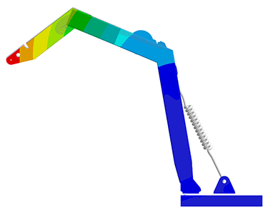 A Davit A-Frame analysed for fatigue in accordance with DNV standards using ANSYS