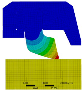 Finite element analysis of an elastomeric seal using ANSYS