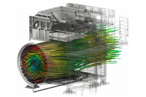 Fluid flow through a pipe analysed using ANSYS CFD