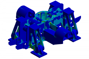 An - offshore structure - example of the complex geometry that can be analysed using FEA