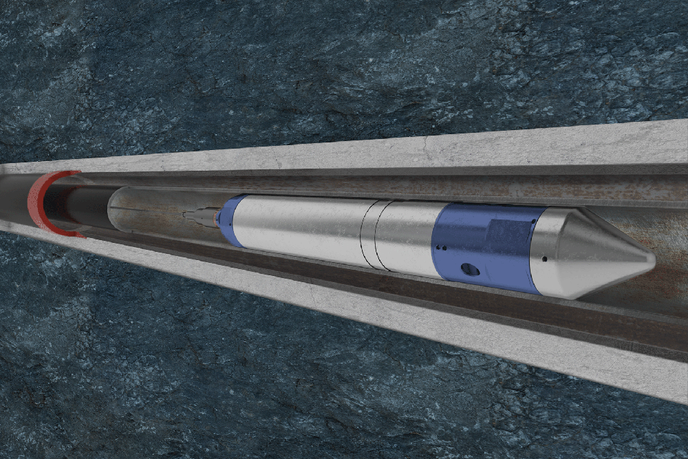 A bespoke wireline downhole tool designed using Solidworks