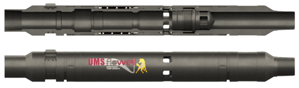 Shifting Tool with UMS Flowell Logo and Section view of the tool